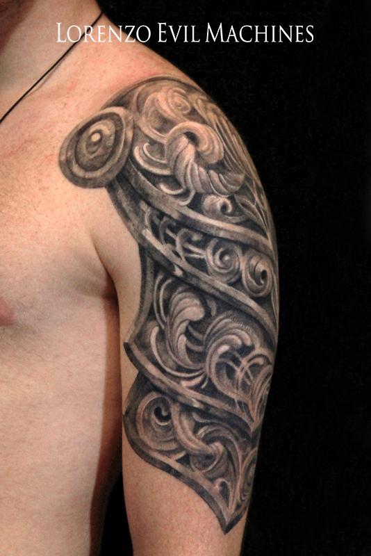Armatura_Lorenzo_Evil_machines_realistic_tattoo_tatuaggi_realistici_Roma_sito_best_migliore