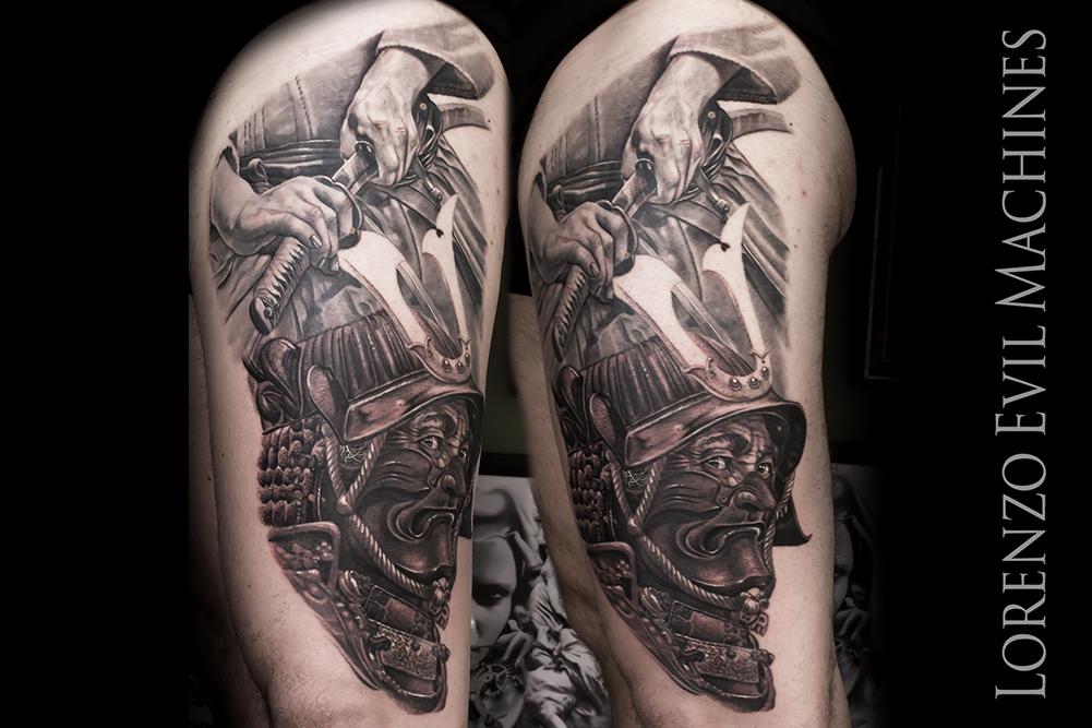 Samurai_Ritratto_Katana_Giappone_Eroismo_Lorenzo_Evil_Machines_Realistic_Tattoo_Tatuaggi_Realistici_Roma_3d_sito_best_migliore