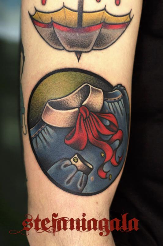 Grembiule_Amicizia_scuola_disegni_personalizzati_neo_new_traditional_Stefania_Gala_Evil_Machines_Tattoo_Roma_tatuatore_best_migliore