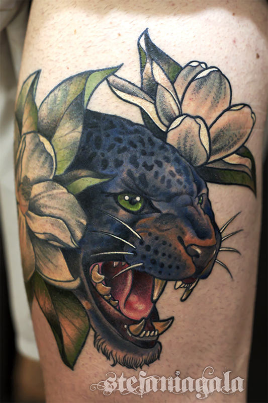 Tigre_Tiger_Giaguaro_Jaguar_Color_animali_natura_fiori_disegni_personalizzati_neo_new_traditional_Stefania_Gala_Evil_Machines_Tattoo_Roma_tatuatore_sito_best_migliore