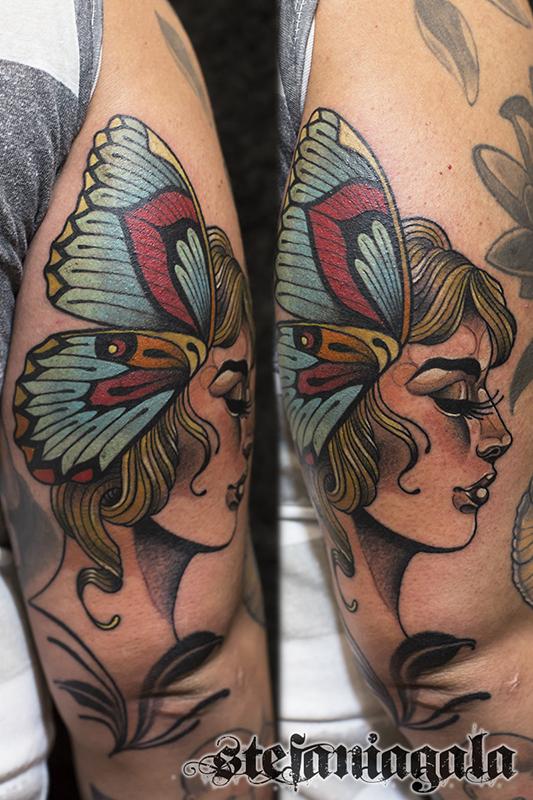 Donna_Farfalla_lady_butterfly_disegni_personalizzati_neo_new_traditional_Stefania_Gala_Evil_Machines_Tattoo_tatuaggi_Roma_migliore_best