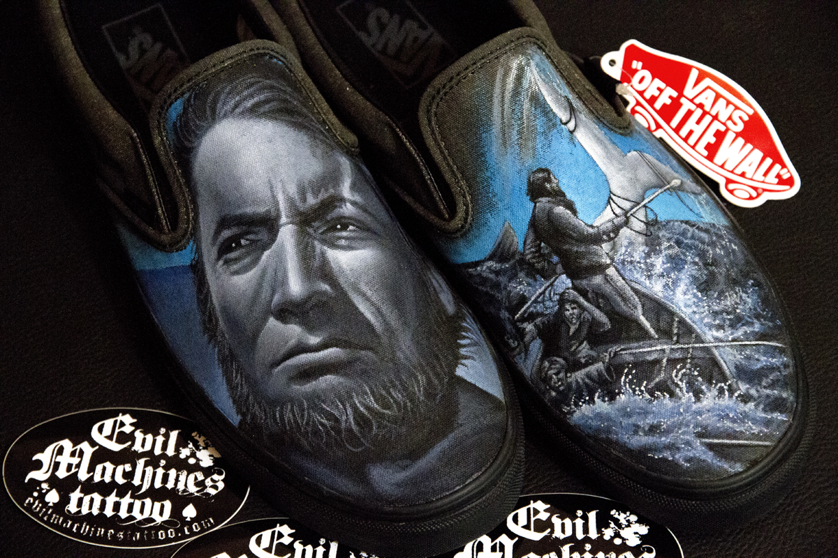 Scarpe_Vans_Balena_Bianca_Shoes_Moby_Dick_Mare_Herman_Melville_White_Whale_Capitan_Achab_Sea_Roma_Evil_Machines_Studio
