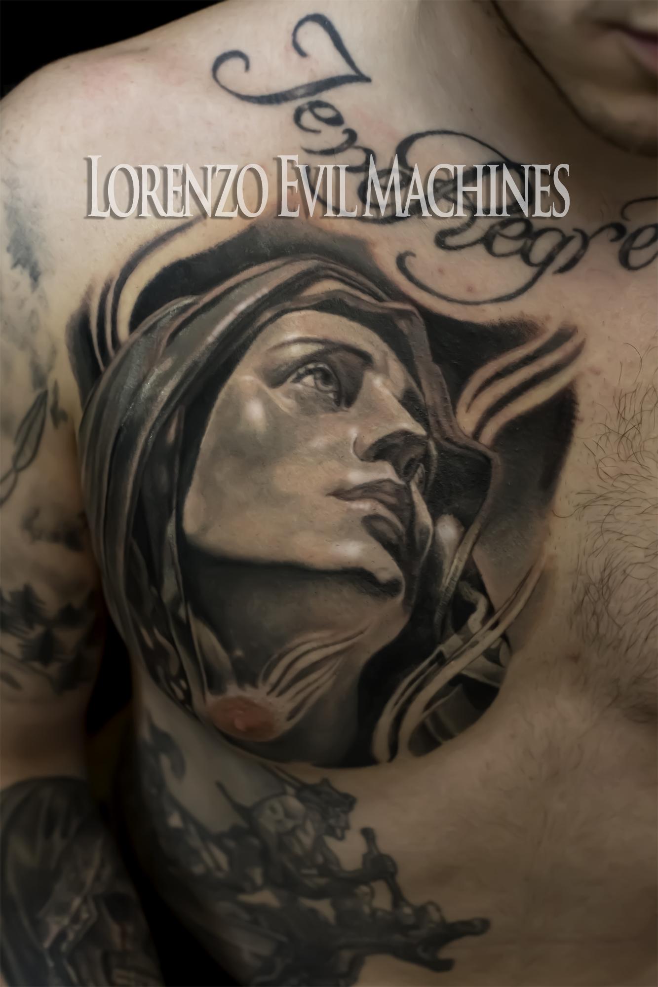 Madonna_Lorenzo_tatuatore_Evil_Machines_realistic_tattoo_tatuaggi_realistici_3d_Roma_ritratti_sito_best_migliore