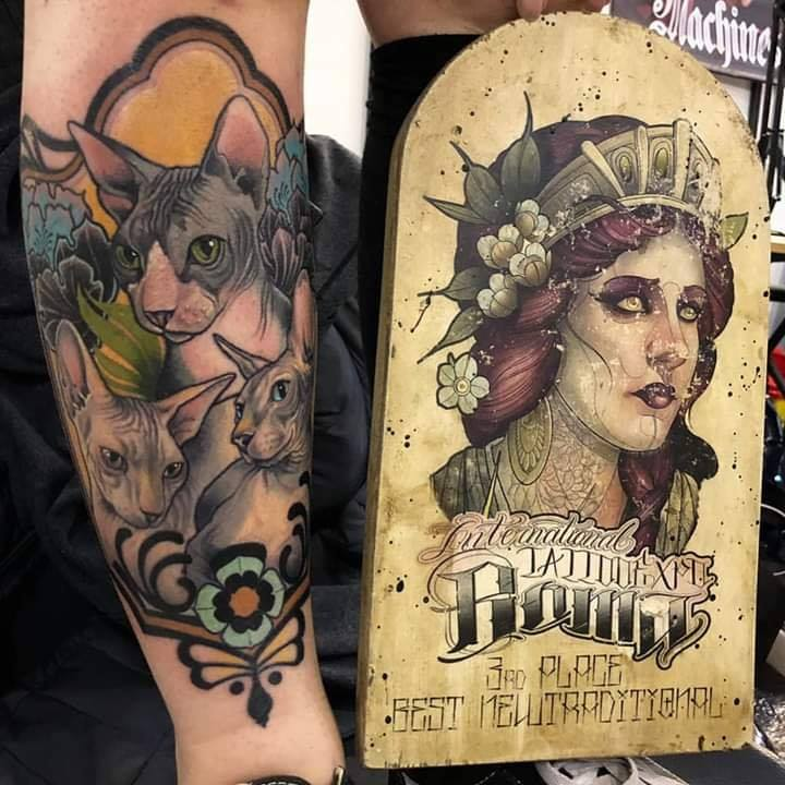 Sphynx_tattoo_premiazione_stefania_gala_convention_roma_2019