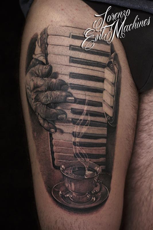 Fisarmonica_caffè_tazzina_coffee_accordion_black_grey_Lorenzo_Evil_machines_realistic_tattoo_tatuaggi_realistici_Roma_tatuatore_ritratti_sito_best_migliore