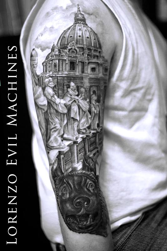 san_pietro_Lupa_Roma_Lorenzo_Evil_machines_tattoo_tatuaggi_realistici_sito_best_migliore
