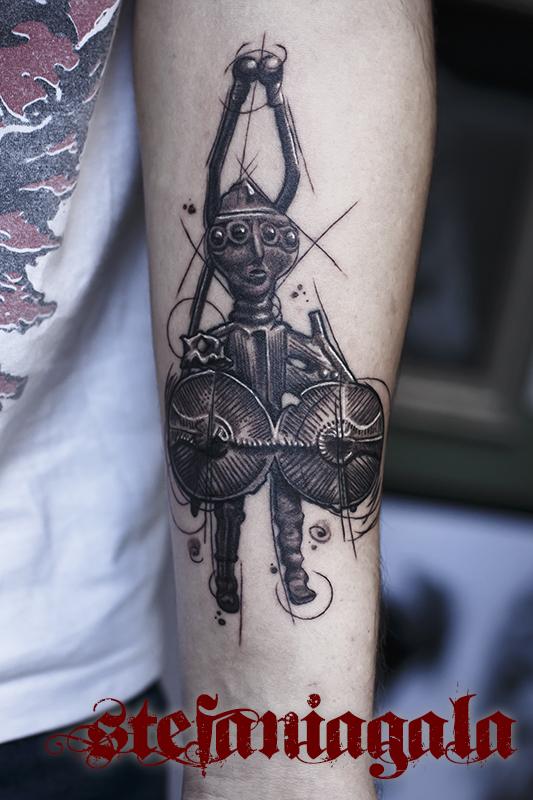 Guerriero_Shardana_schizzo_disegni_personalizzati_Stefania_Gala_Evil_Machines_Tattoo_Roma_best_migliore