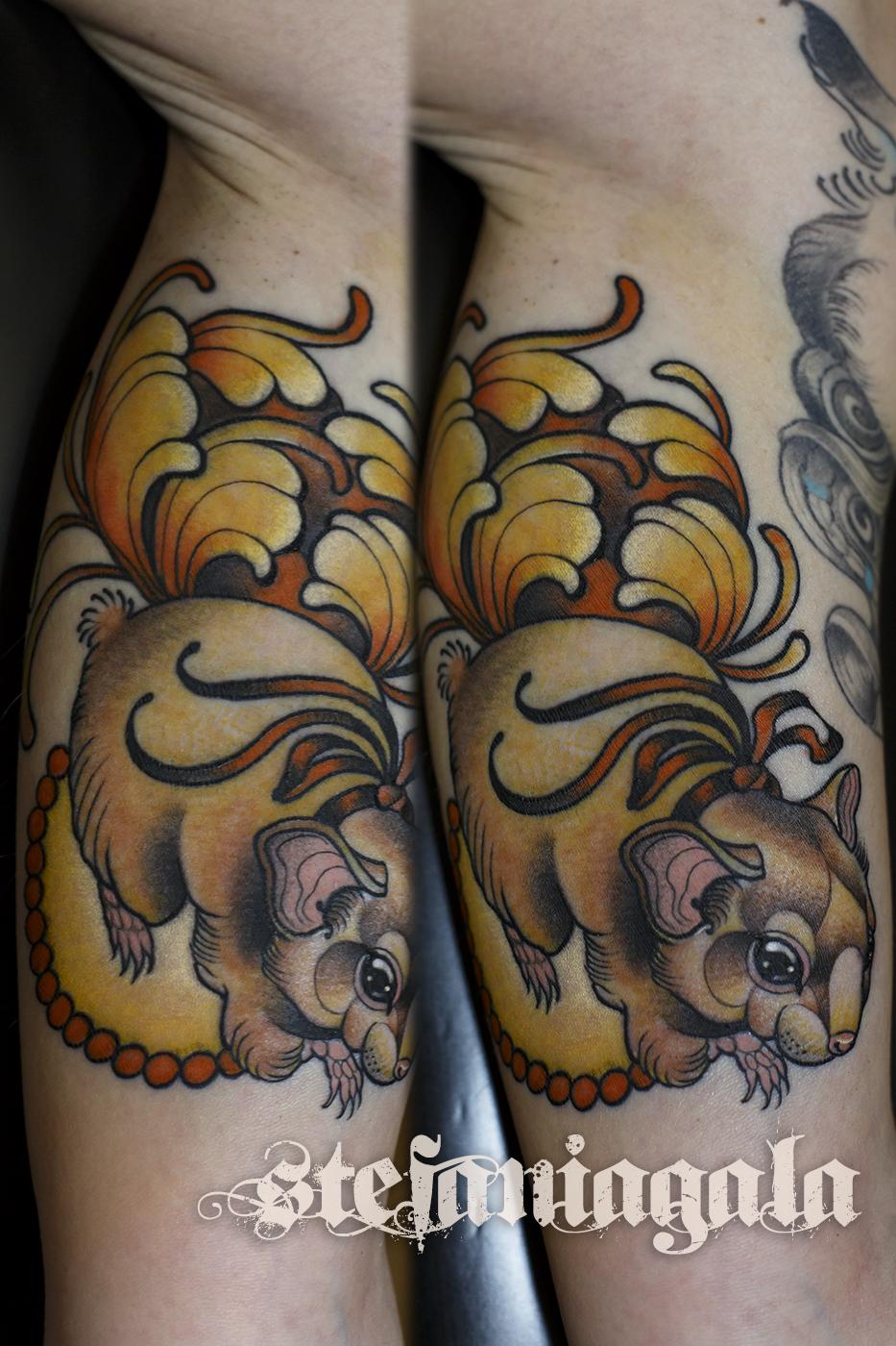 Criceto_hamster_topino_art_nouveau_disegni_personalizzati_neo_new_traditional_Stefania_Gala_Evil_Machines_Tattoo_tatuaggi_Roma_studio_migliore_best