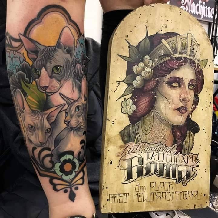 Sphynx_tattoo_premiazione_stefania_gala_convention_roma_2019_miglior_tattoo_miglior_tatuatore