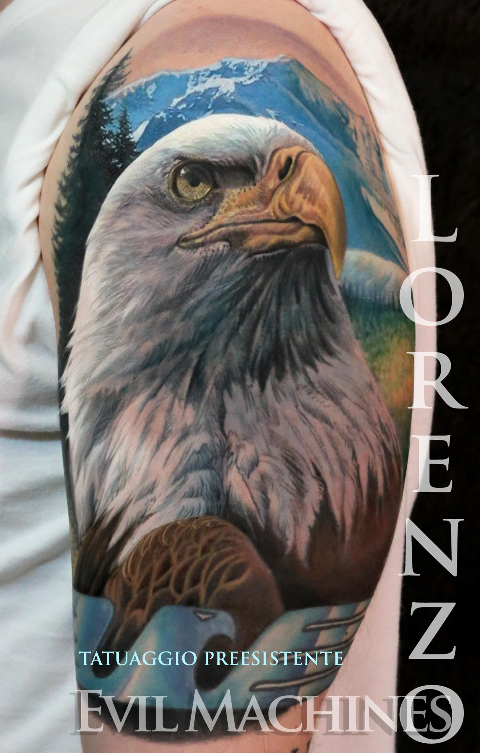 Aquila_eagle_lazio_2_Lorenzo_tatuatore_Evil_Machines_realistic_tattoo_tatuaggi_realistici_3d_Roma_miglior_migliore_ritratti
